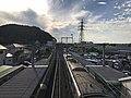 View from overpass of Kadomatsu Station.jpg