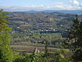 View from the hills around Spigno Monferrato onto the village with church.JPG
