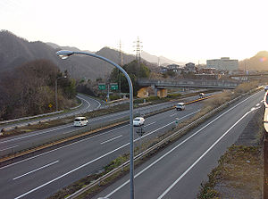 View of Uenohara Interchange.jpg