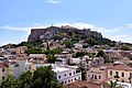 View of the Acropolis from the roof garden of a hotel in Plaka.jpg