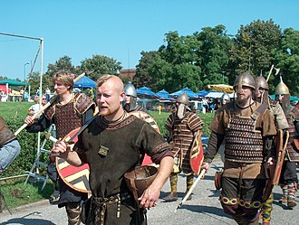 Wolin - Opening parade at Viking and Slavic Festival in 2004