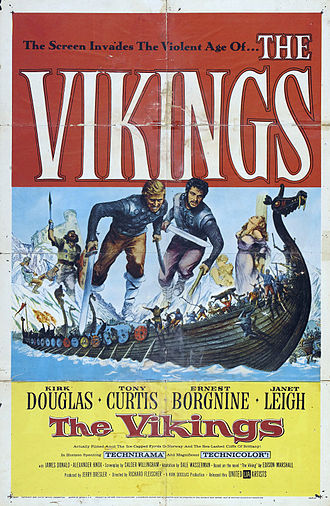 The Vikings (1958 film) - Theatrical release poster  by Reynold Brown