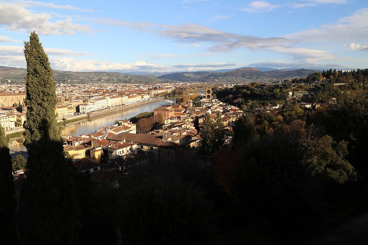Firenze, Villa Bardini, veduta su Oltrarno e San Niccolò