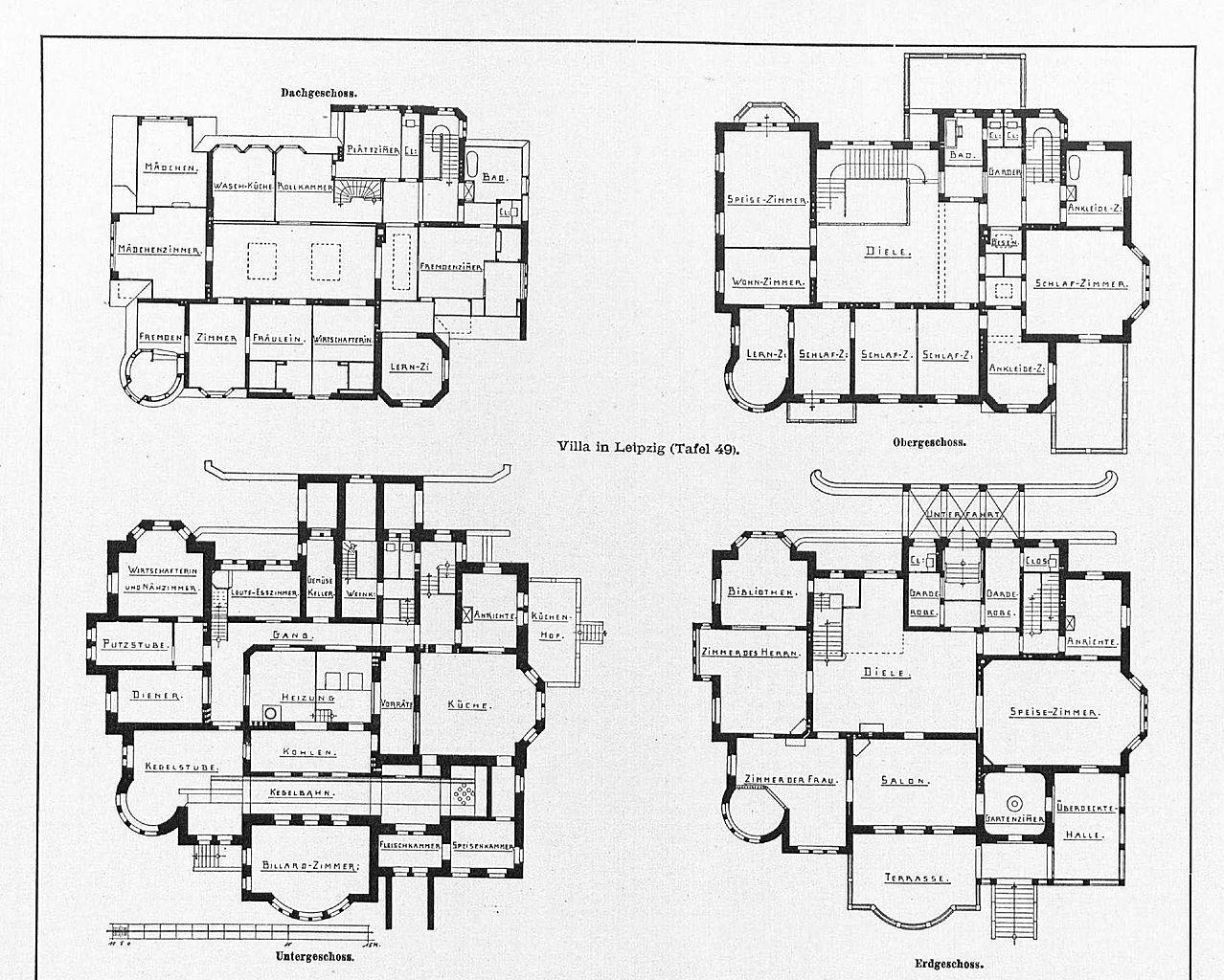 Moderne architektur villa grundriss  Datei:Villa in Leipzig, Schwägerichenstr. 23 Architekten Peter ...
