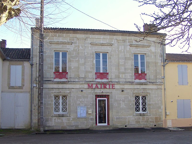 Town hall of Villandraut (Gironde, France)