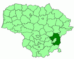 Location of Vilnius district municipality