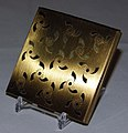 Vintage Pilcher Goldtone Powder Compact, Measures 3 x 3 x 3 8 Inches (9349038721).jpg