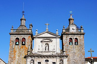 Viseu Cathedral - Upper façade and towers of Viseu Cathedral.