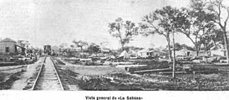 Chaco Province - La Sabana and its new railway station in 1899