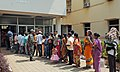 Voters standing in a long queue to cast their votes, at a polling booth, during the 5th Phase of General Elections-2014, at North- Bhubaneswar, Odisha on April 17, 2014.jpg