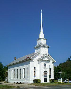 Zeeland Charter Township, Michigan - Vriesland Reformed Church building on in Vriesland, Michigan. Now houses Zeeland Church of God