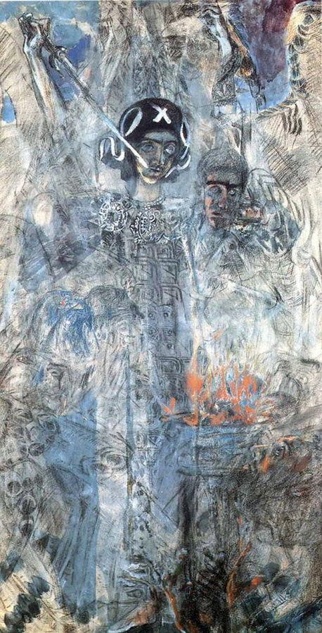 Видение пророка Иезекииля. Последняя картина Врубеля. 1906, Государственный Русский музей