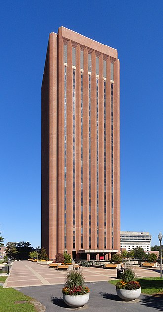 University of Massachusetts Amherst - The W. E. B. Du Bois Library is the world's 2nd tallest library and the tallest university library.