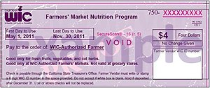 wic coupons for farmers market
