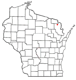 Location of Dunbar, Wisconsin