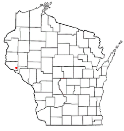 Location of Plum City, Wisconsin