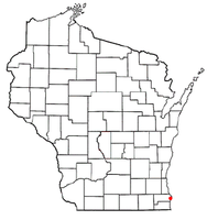 Location of Racine, Wisconsin