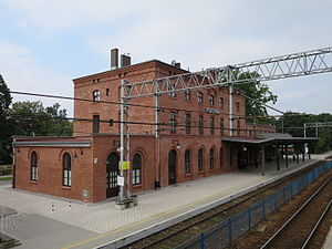 Pszczyna - Historical train station after renovation