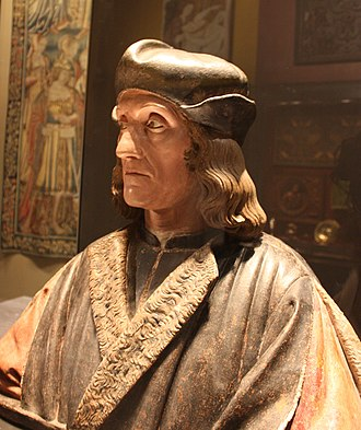 Death mask - Posthumous portrait bust of Henry VII of England by Pietro Torrigiano, supposedly made using his death mask