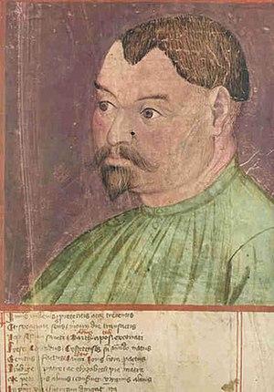Konrad Kyeser - Konrad Kyeser, illustration on his Bellifortis manuscript  (Cod. Ms. philos. 63)