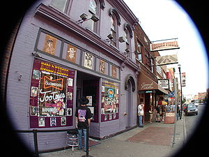 Honky-tonk - Tootsie's Orchid Lounge in Nashville, Tennessee, a honky-tonk bar