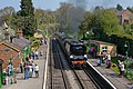Wadebridge locomotive steaming into Medstead and Four Marks station - geograph.org.uk - 1260911.jpg
