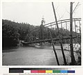 Wagon bridge over Gualala. River, S G. P.O. S end of main span dropped 20 feet owing to collapse of approach.jpg