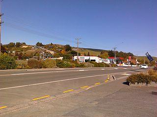 Waihola Town in Otago, New Zealand