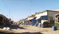 A side street on the Somaliland side of the Somaliland/Ethiopia border town of Wajaale.