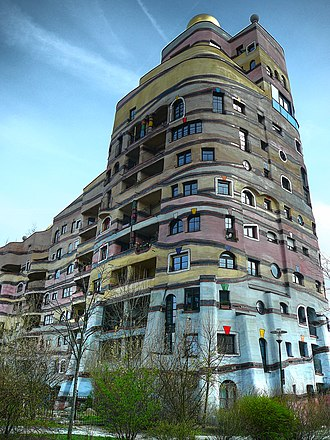 Waldspirale - Another view of the complex.