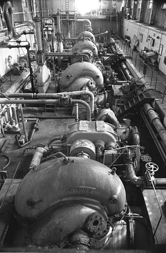 Floating dock (impounded) - Pumps within Wallasey Dock impounding station