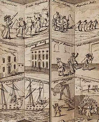 Robert Walpole - Walpole's reign – political satire
