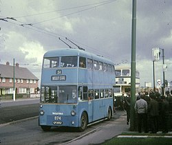 Walsall trolleybus, 1970 (Picture by David Hillas, www.geograph.org.uk, Creative Commons Attribution Share-alike license 2.0)