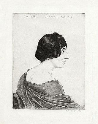 Emil Orlík - Image: Wanda Landowska by Emil Orlik