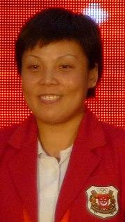 Wang Yuegu Singaporean table tennis player