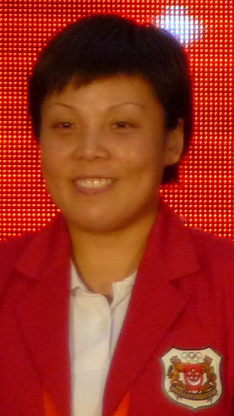 Wang Yuegu - At a ceremony to welcome Team Singapore home from the 2008 Summer Olympics in Beijing, 25 August 2008