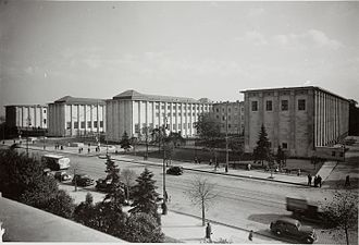National Museum, Warsaw - Main facade of the National Museum, 1938