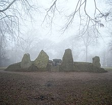 Photo of a Neolithic long barrow