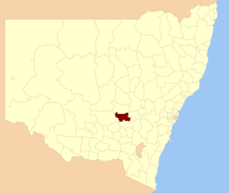 Weddin Shire - Location in New South Wales