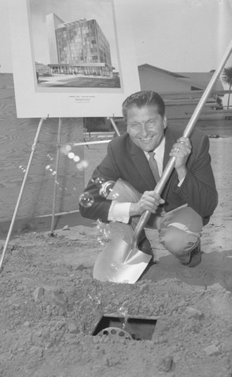 Lawrence Welk - Welk at the groundbreaking of the new Union Bank in Santa Monica, California, 1960