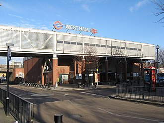 West Ham - Image: West Ham Underground and main line Station, east London geograph.org.uk 1660588
