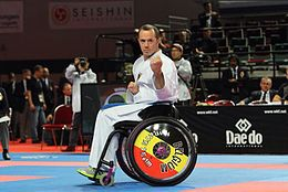 Wheelchair Karate - Kata2 - WKF Worlchampionship 2014.jpg