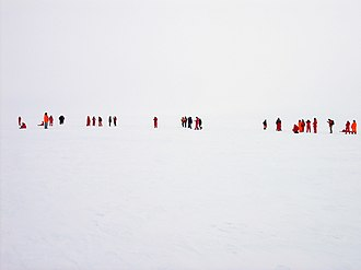 Whiteout (weather) - Flat-light on Ekström Shelf Ice, Antarctica