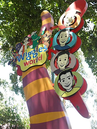 Wiggles World - The entrance to Wiggles World from Tiger Island and the Tower of Terror.