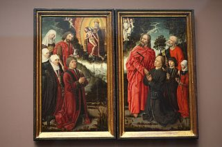 Holy Trinity with donors and saints