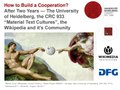 Wikimania2017 How to Build a Cooperation WMDE WikiProject Ancient History CRC933 University of Heidelberg.pdf