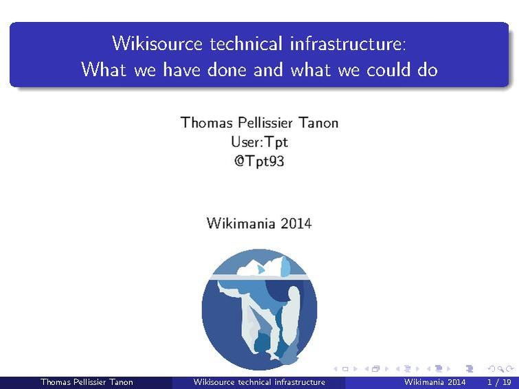 File:Wikisource technical infrastructure, what we have done and what we could do?.pdf