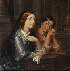 Venetian women in a church