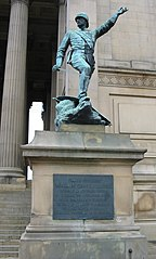 Statue Of Major General Earle Attached To South East Angle Of St George's Hall