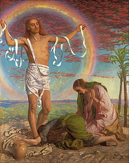 William Holman Hunt - Christ and the two Marys - Google Art Project